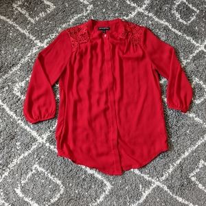 The PERFECT Red Blouse from BR sz:XS